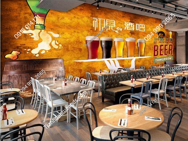 Tranh dán tường free beer DS16662489
