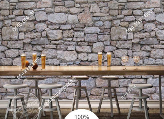 Tranh dán tường giả đá cho quán beer DS15457618