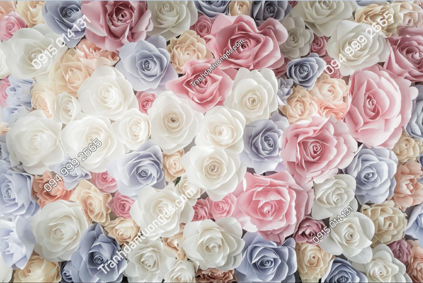 Tranh dán tường hoa hồng - 10538 demo