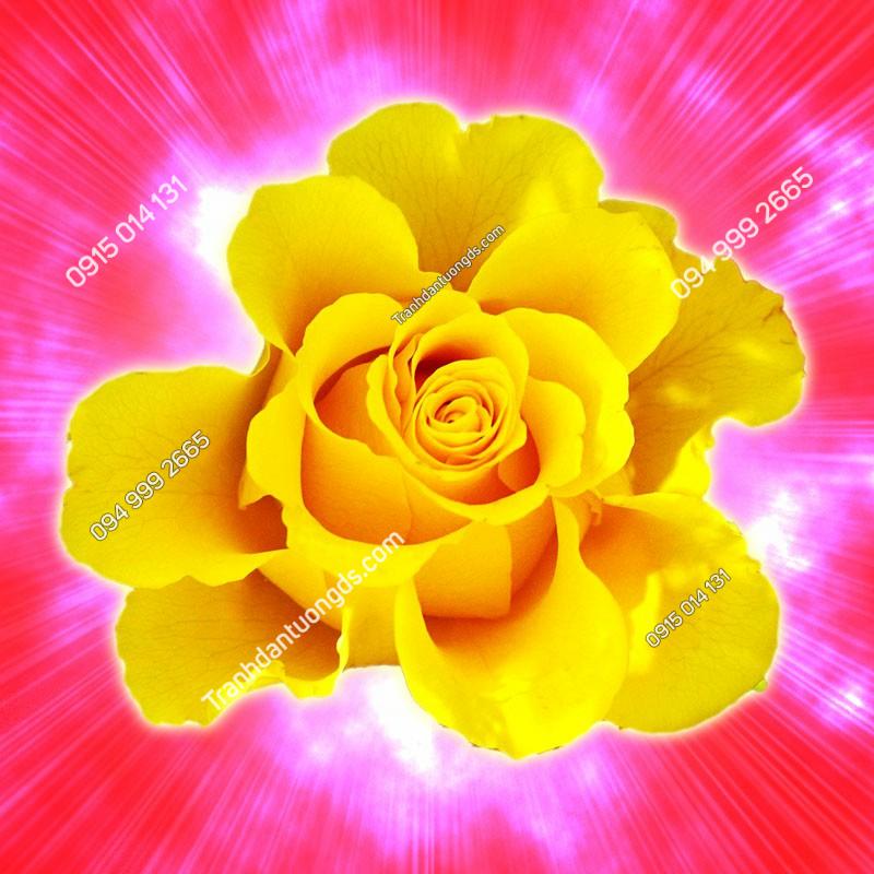Tranh dán tường hoa hồng 3D - (108)