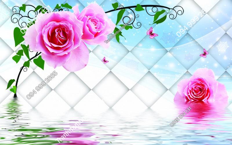 Tranh dán tường hoa hồng - (771) copy