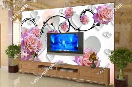 Tranh dán tường hoa hồng dây leo - 11603 demo
