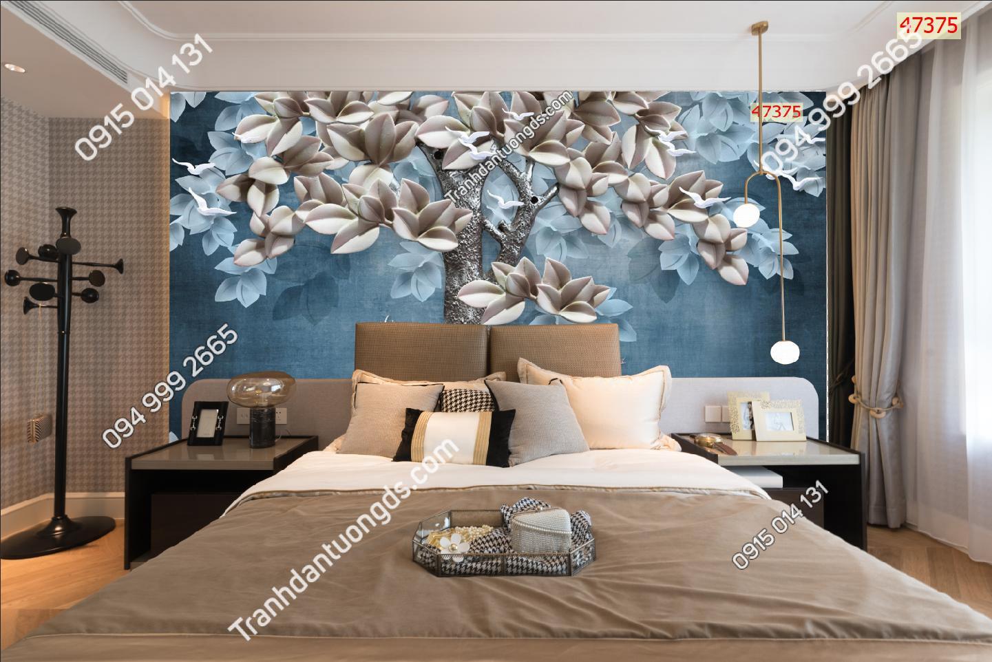 Tranh dán tường hươu phòng ngủ 47375-demo