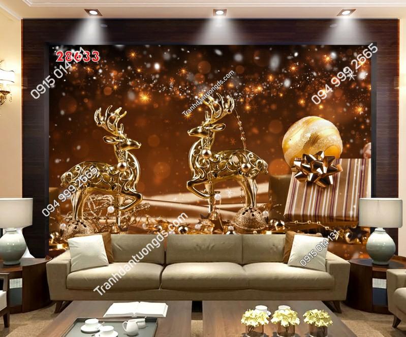 Tranh dán tường hươu vàng 28633-demo