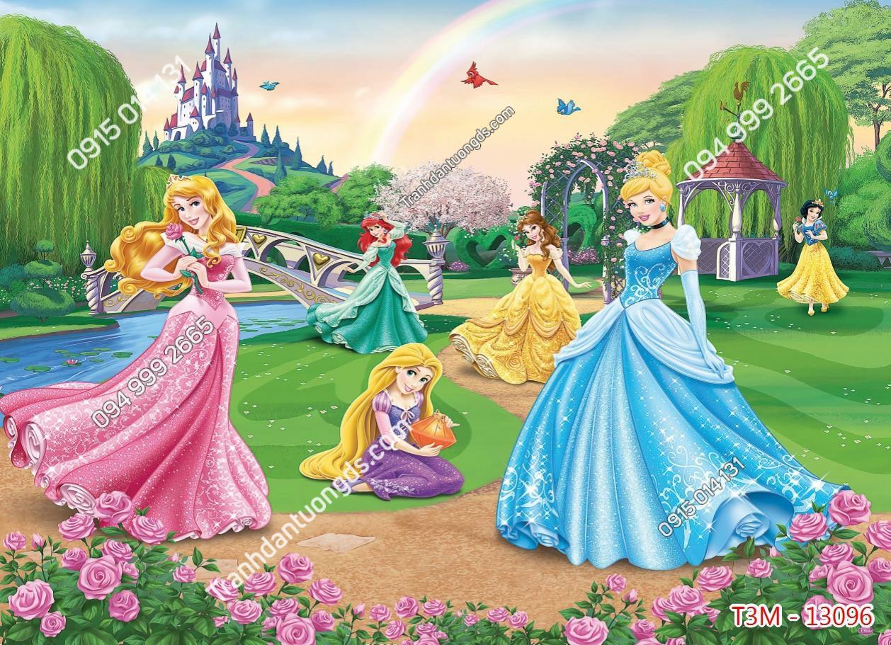 Tranh dán tường lâu đài và công chúa - 13096 demo