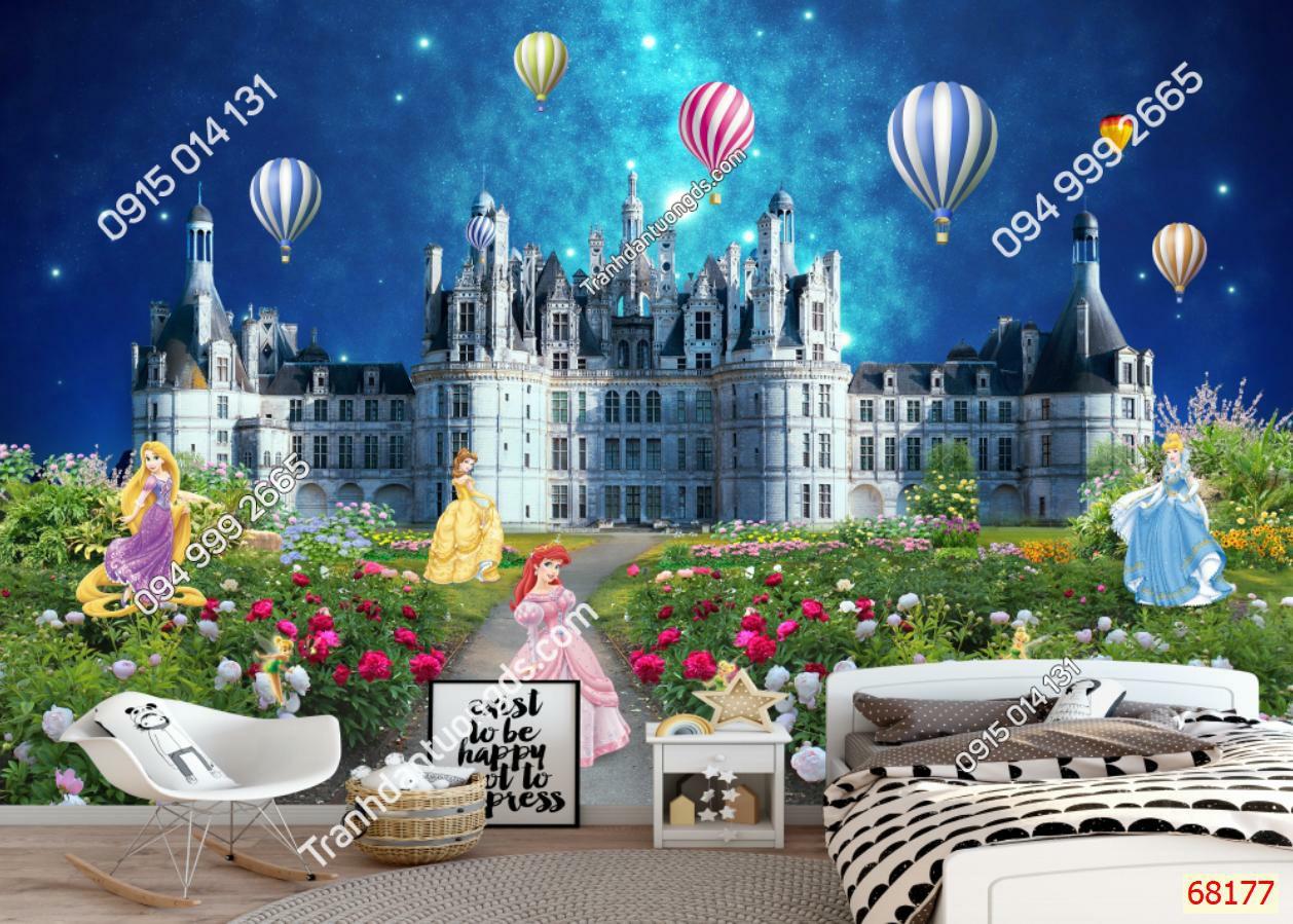 Tranh dán tường lâu đài và công chúa68177 demo