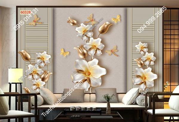 Tranh dán tường phào chỉ hoa ngọc 60328