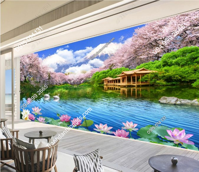 Tranh dán tường phong cảnh phòng khách -DS14010982