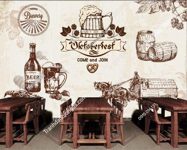 Tranh dán tường quán bia kiểu mỹ DS15661364