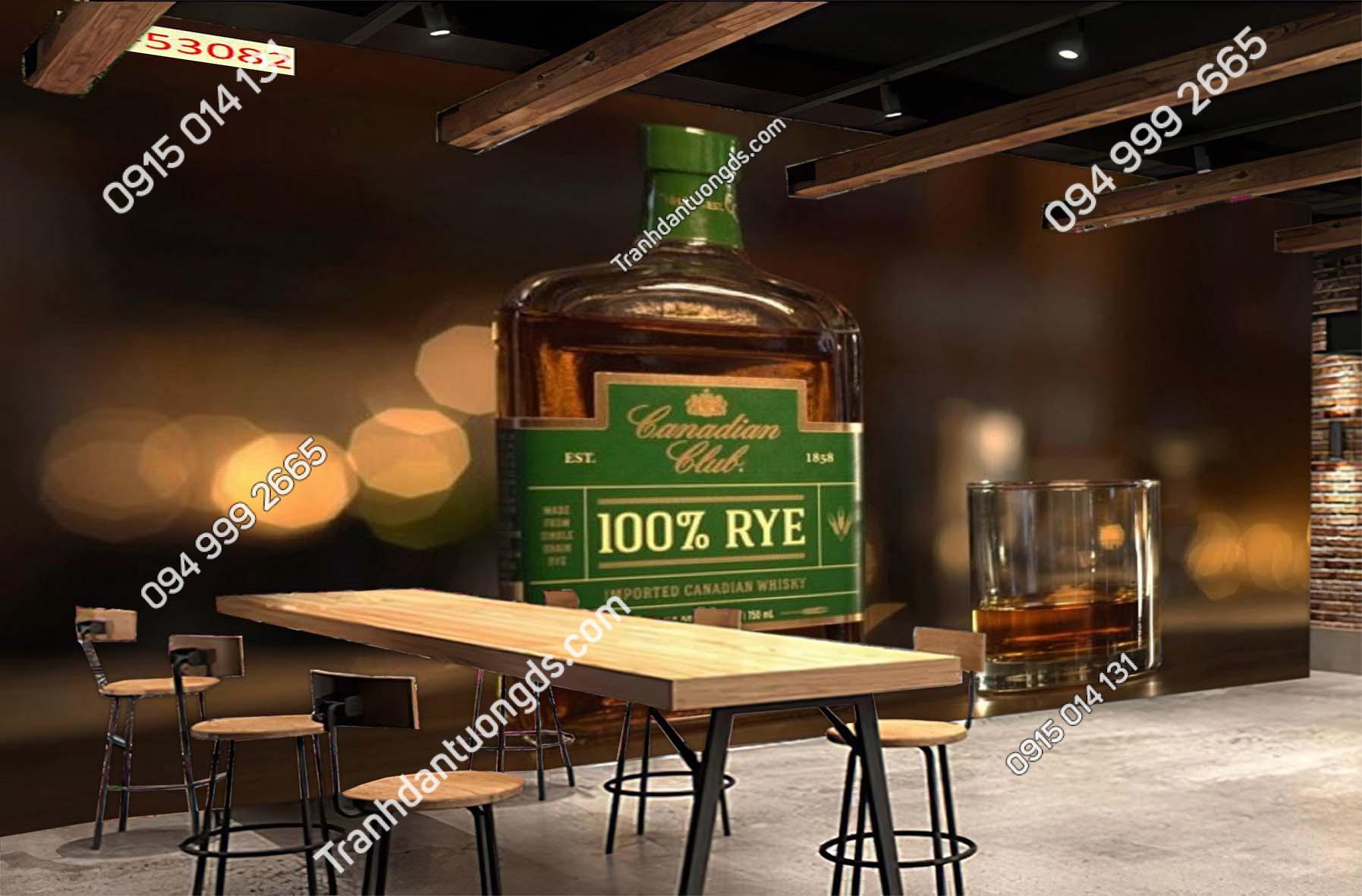 Tranh dán tường quán bia rượu 53082