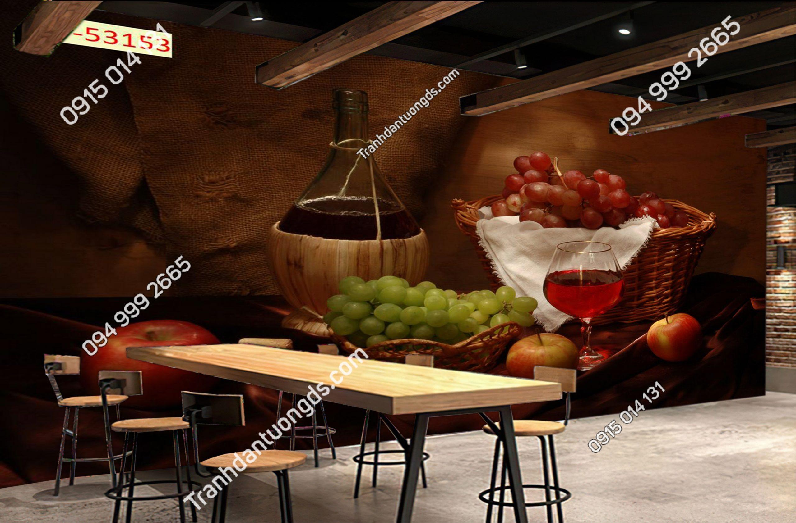 Tranh dán tường quán bia rượu 53153