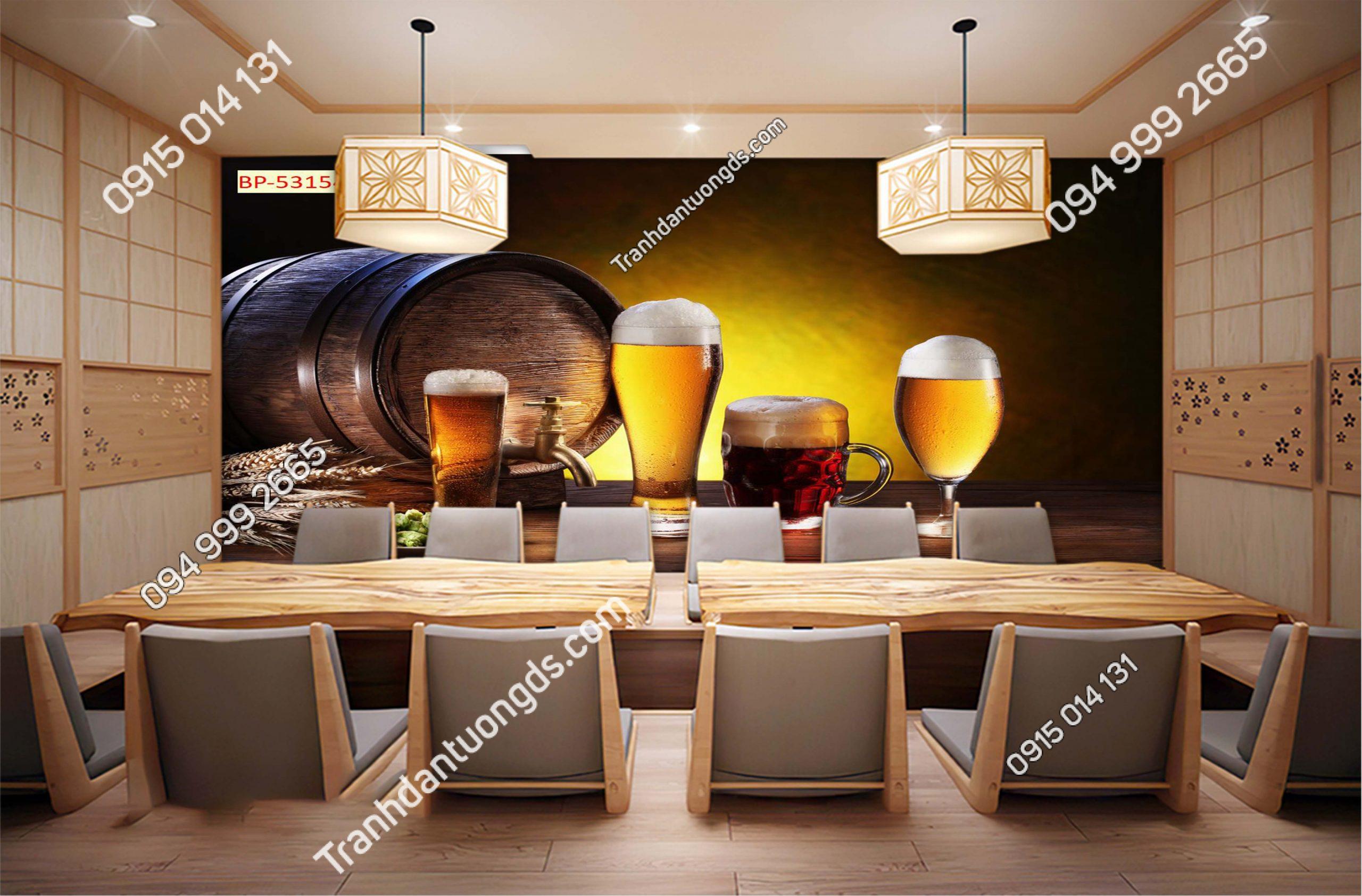 Tranh dán tường quán bia rượu 53154