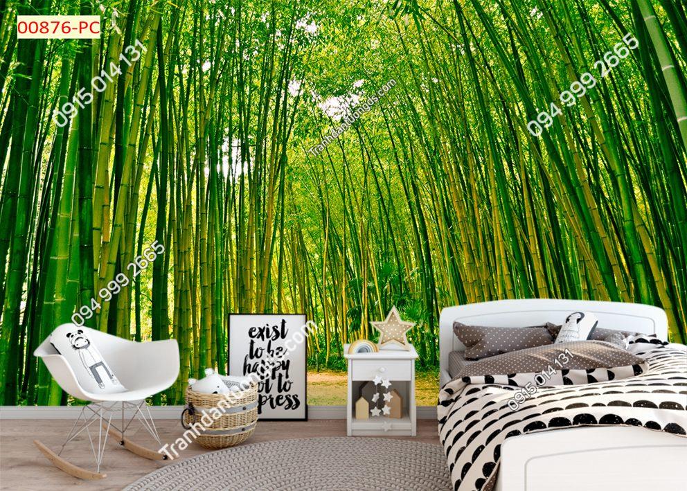 Tranh dán tường rừng tre dán phòng ngủ 00876