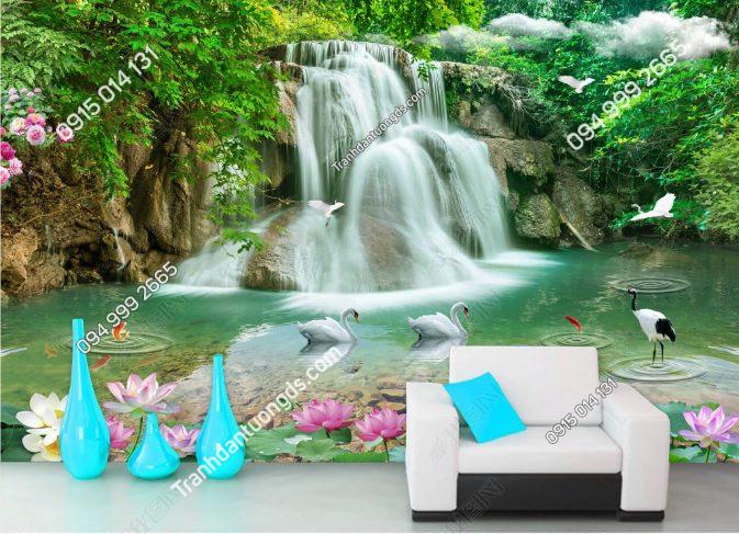 Tranh dán tường thác nước phòng khách - DS15892001