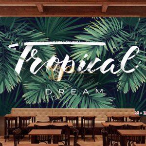 Tranh dán tường tropical 13092 demo