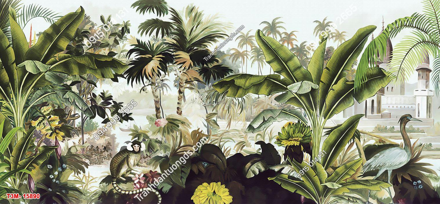Tranh dán tường tropical 15890 DEMO