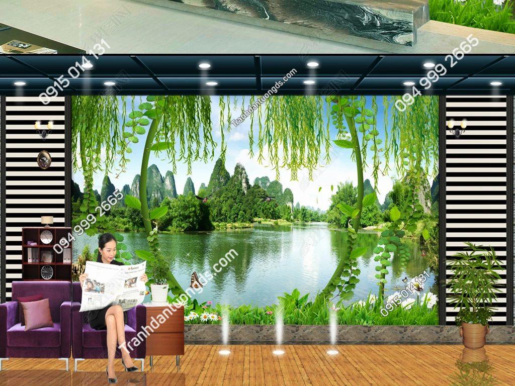 Tranh phong cảnh phòng khách 3D - DS15185795