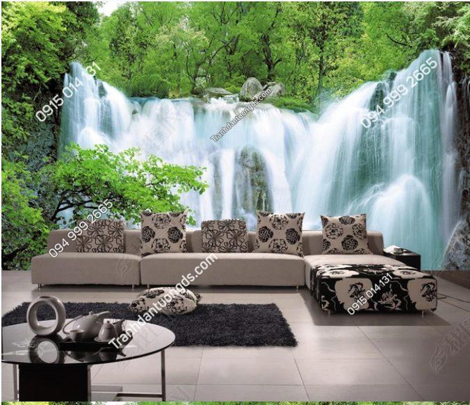 Tranh phong khách thác nước rừng cây - DS12019324