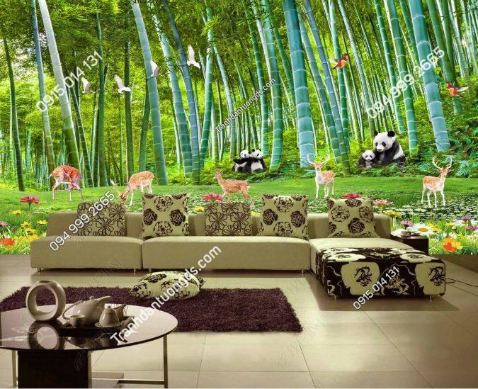 Tranh rừng trúc thiên nhiên phòng khách - DS15321459