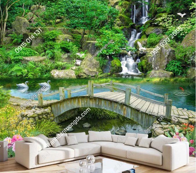 Tranh 5D phong cảnh dán phòng khách - DS15578368