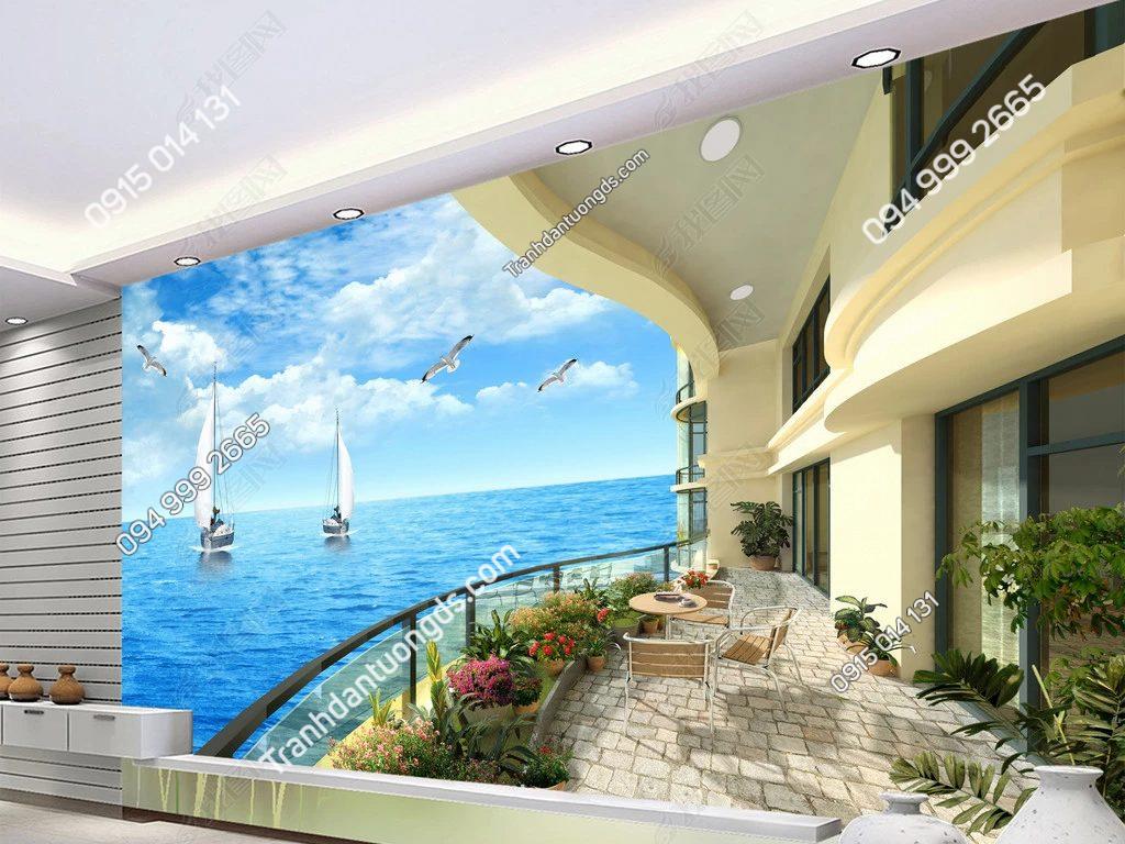 Tranh biển phòng khách - DS12284345