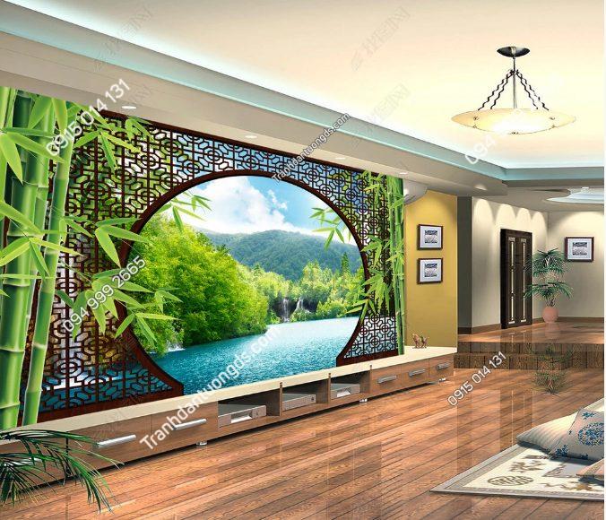 Tranh dán tường đẹp phòng khách - DS12792167