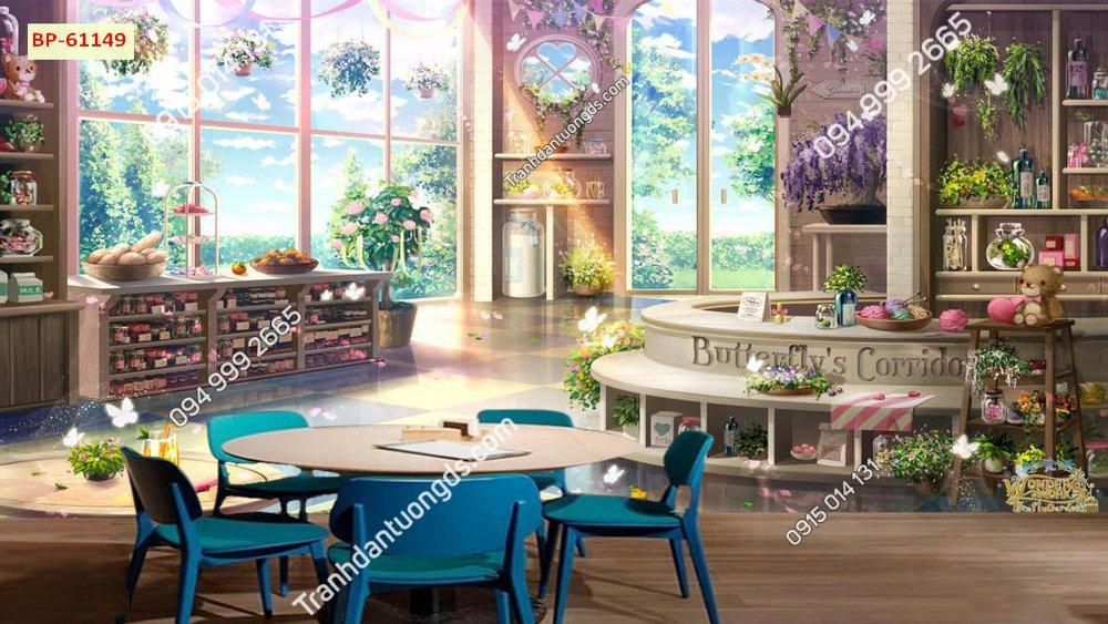 Không gian quán đẹp cho cafe