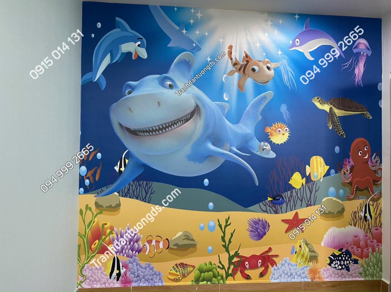 Tranh 3D đại dương trẻ em