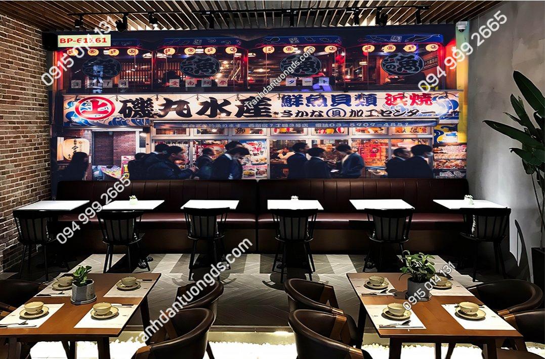 Tranh bối cảnh nhà hàng hongkong