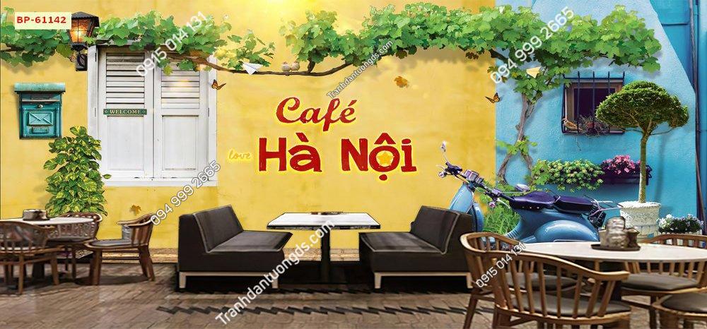 Tranh cho quán cafe Hà Nội