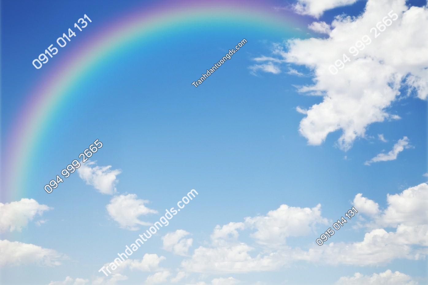 Tranh dán trần cầu vồng và mây - 11577 demo