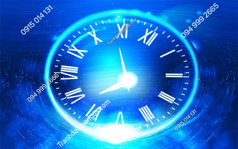 Tranh dán trần đồng hồ thiên hà - (2332) copy