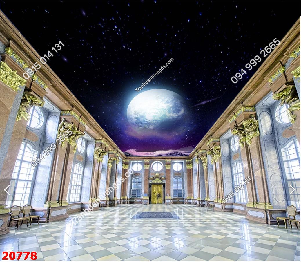 Tranh dán trần galaxy 20778 demo