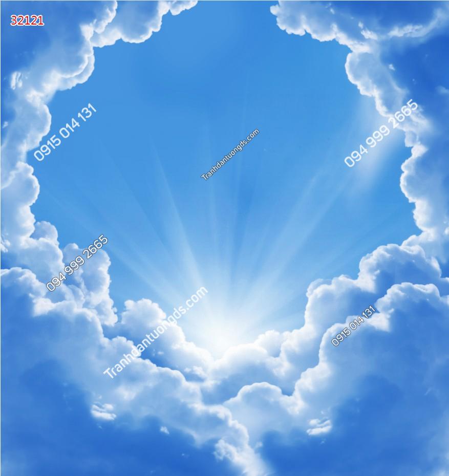 Tranh dán trần mây 32121
