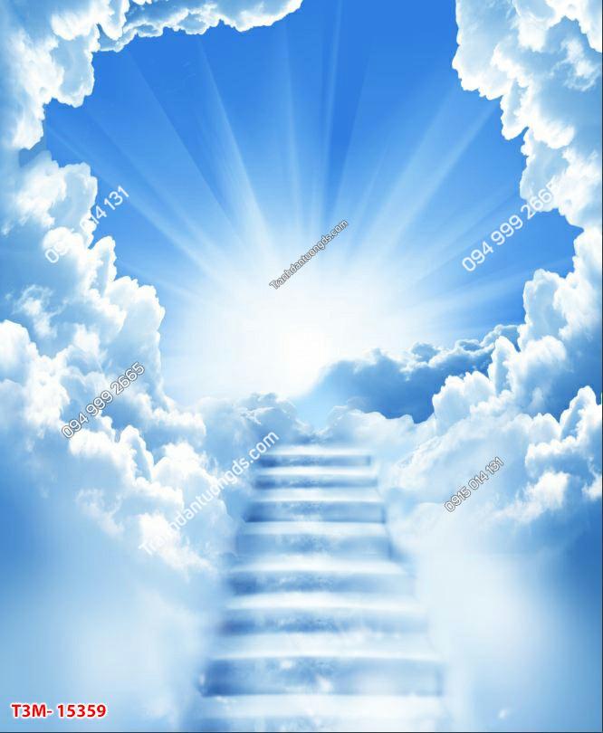 Tranh dán trần mây bậc thang - 15359 DEMO