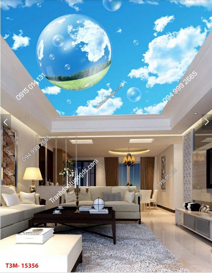 Tranh dán trần mây giọt nước - 15356 DEMO