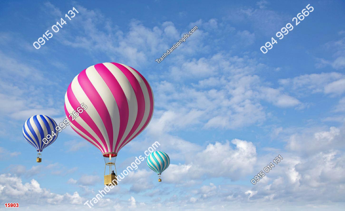 Tranh dán trần mây và khinh khí cầu - 15903 DEMO