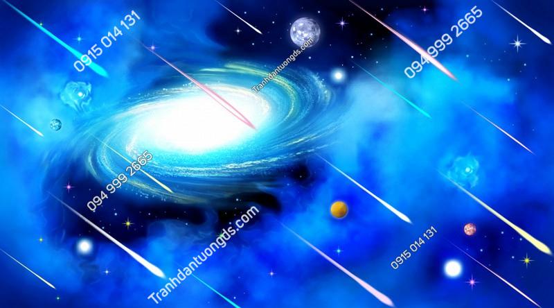 Tranh dán trần mưa sao băng ngân hà - (2946)