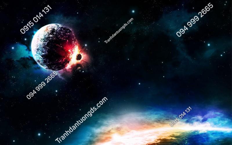 Tranh dán trần ngân hà - (3022)