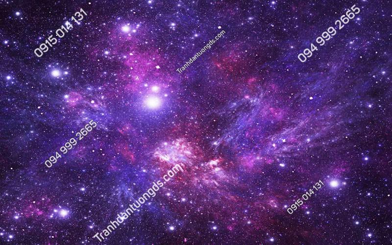 Tranh dán trần ngân hà tím (387)