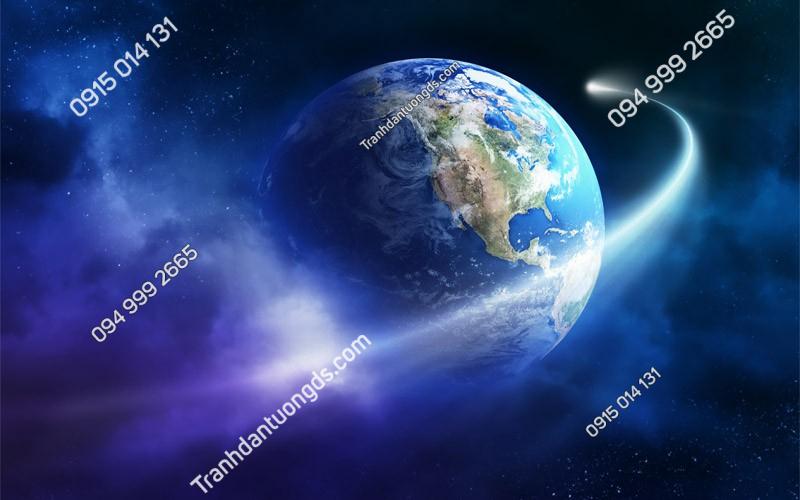 Tranh dán trần ngân hà trái đất (3020)