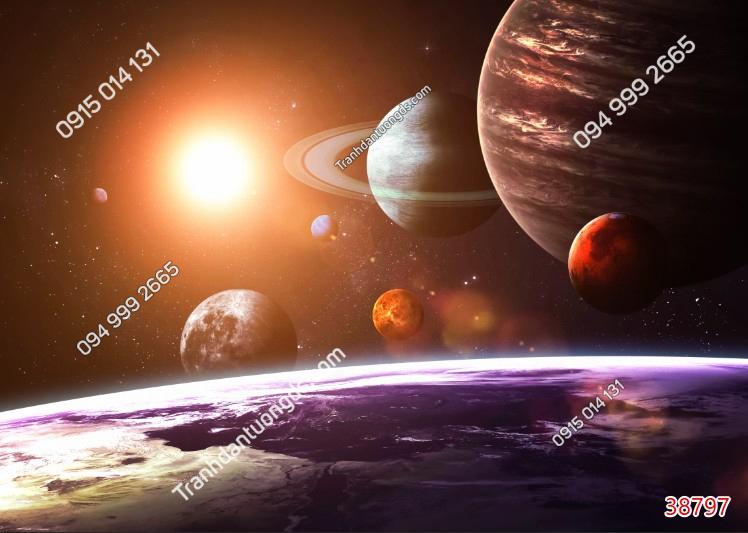 Tranh dán trần thiên hà 38797 demo