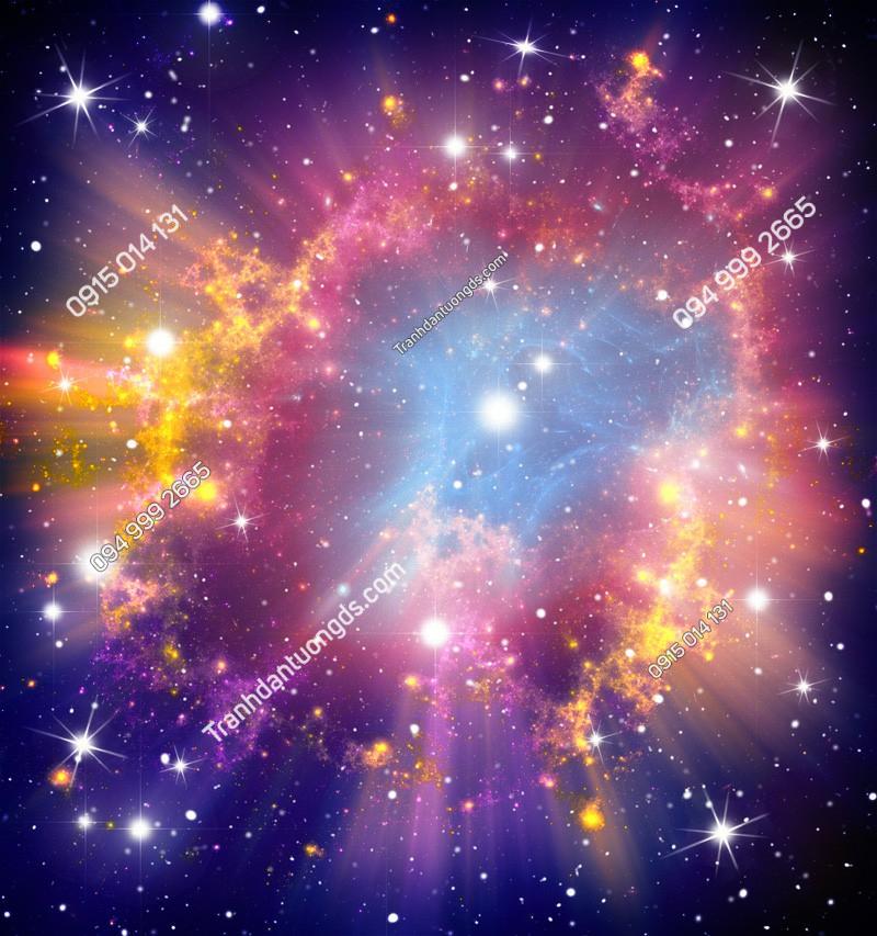 Tranh dán trần thiên hà 3d - (2440)