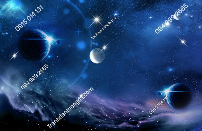 Tranh dán trần thiên hà 3d - (2463)