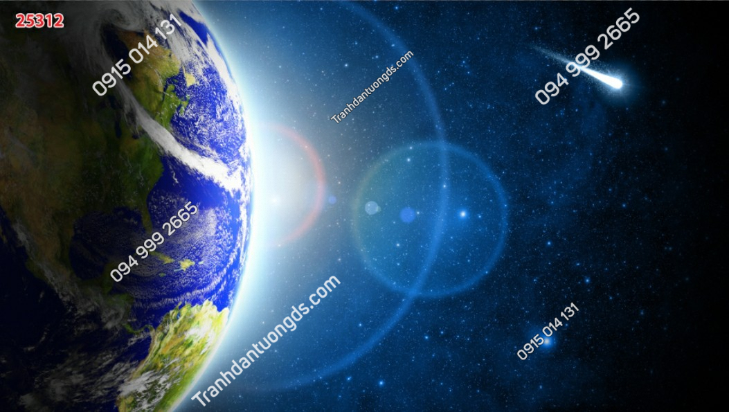 Tranh dán trần trái đất 25312