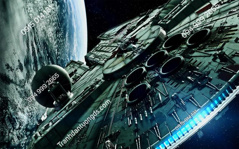 Tranh dán trần trạm vũ trụ 3D -TRAN- (49)