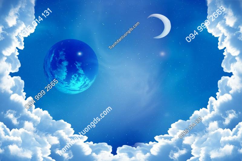 Tranh dán trần trăng sao - (2425)