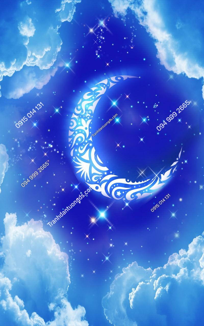 Tranh dán trần trăng sao - (2465)