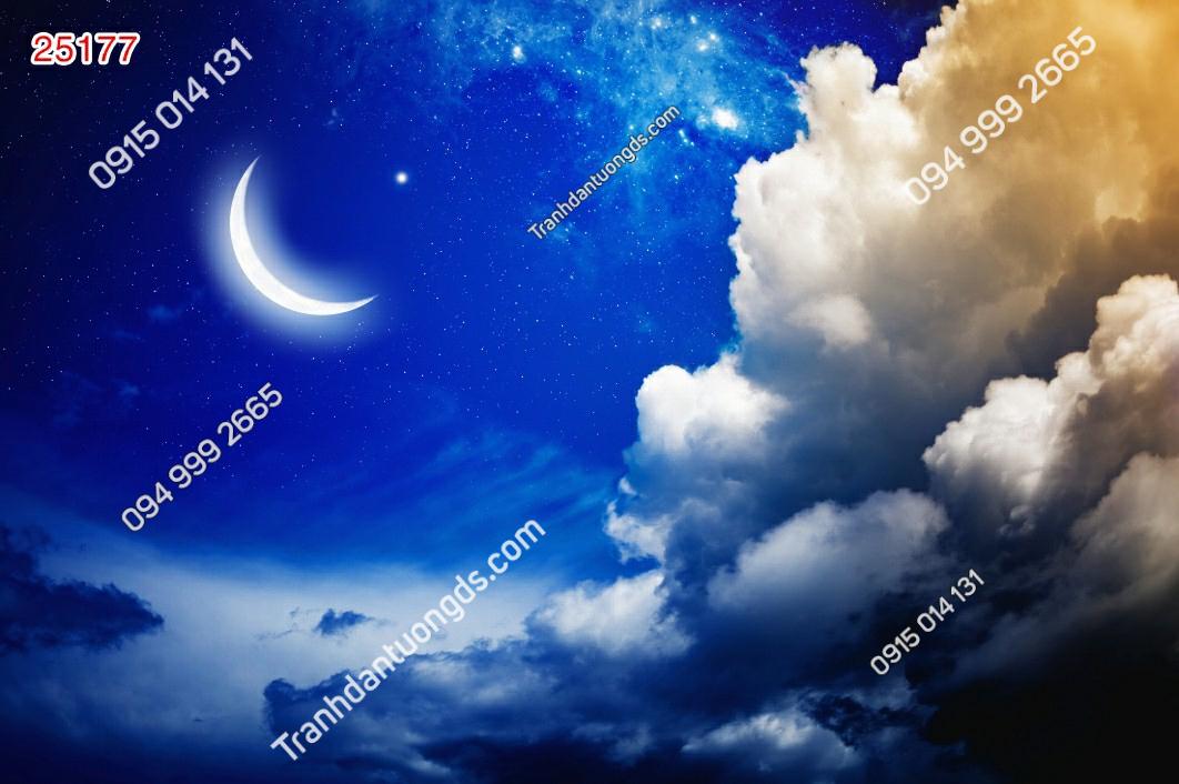 Tranh dán trần trăng sao - 25177