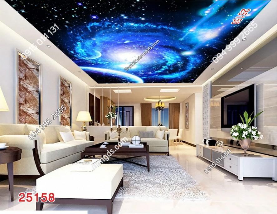 Tranh dán trần vũ trụ 3D 25158 DEMO